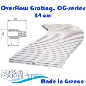 Acqua Source Overflow Grating 24 cm