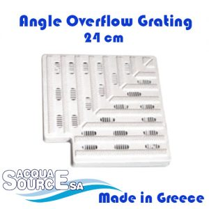Acqua Source Angle Overflow Grating 24cm